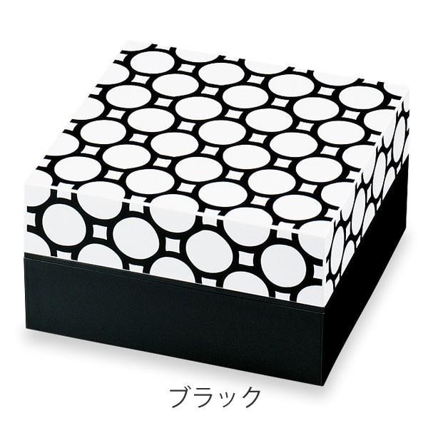 お弁当箱 ピクニックランチボックス 18cm オードブル重 2段 和もよう 和紋 2550ml お重 ( 弁当箱 仕切り付 おすすめ ) colorfulbox 04