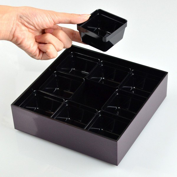 ランチボックス お弁当箱 宇野千代 18cm オードブル重 三段 あけぼの桜 ( 弁当箱 仕切り付 ) colorfulbox 05