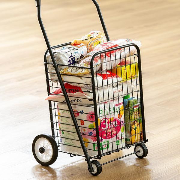 ショッピングカート 折りたたみ 4輪 大容量 おしゃれ シンプル キャリーカート ( ワイヤーカート スチール製 ワイヤー カート 買い物カート ショッピング ) colorfulbox 02