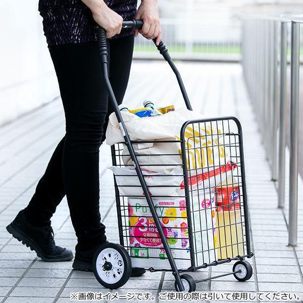 ショッピングカート 折りたたみ 4輪 大容量 おしゃれ シンプル キャリーカート ( ワイヤーカート スチール製 ワイヤー カート 買い物カート ショッピング ) colorfulbox 10