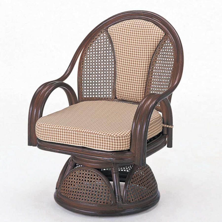 回転座椅子 ラタン ラウンドチェア 籐家具 座面高35cm 回転座椅子 ラタン ラウンドチェア 籐家具 座面高35cm