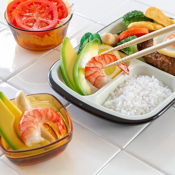 ランチプレート プラスチック 食器 フタ付きランチプレート 角型 楽弁 仕切り付き プラスチック製 ( 電子レンジ対応 食洗機対応 家弁 仕切り皿 )|colorfulbox|14