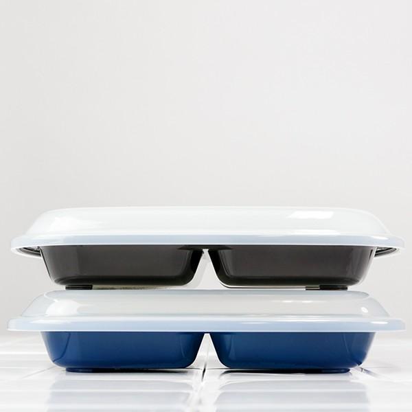 ランチプレート プラスチック 食器 フタ付きランチプレート 角型 楽弁 仕切り付き プラスチック製 ( 電子レンジ対応 食洗機対応 家弁 仕切り皿 )|colorfulbox|08