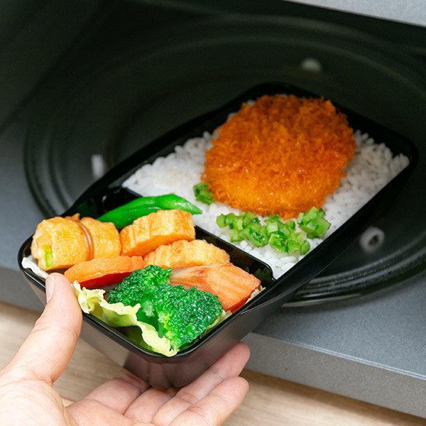 お弁当箱 1段 深型 メンズドームランチボックス ル・ボア オム 750ml ( 弁当箱 食洗機対応 レンジ対応 ドーム型 仕切り付 ) colorfulbox 09