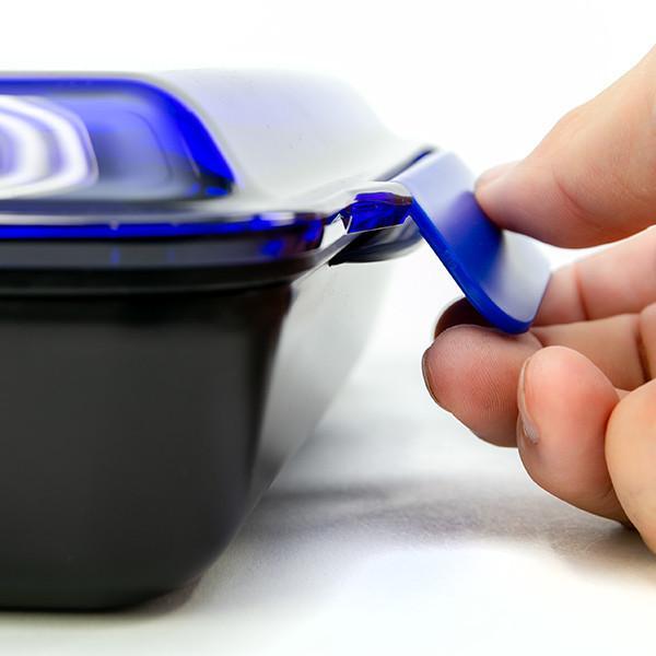 お弁当箱 1段 深型 メンズドームランチボックス ル・ボア オム 750ml ( 弁当箱 食洗機対応 レンジ対応 ドーム型 仕切り付 ) colorfulbox 10