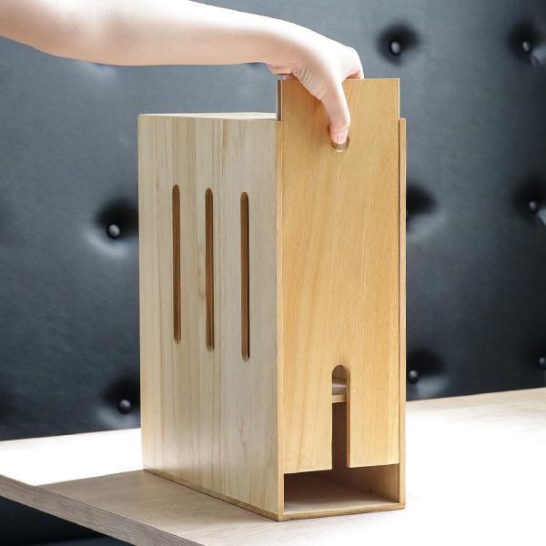 ケーブルボックス 木製 ルーター 収納 タップ コンセント収納 ( ルーター収納ボックス ケーブル コンセント モデム ルーター収納 ) colorfulbox 16