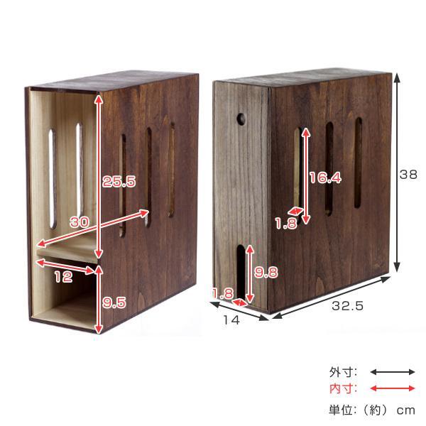 ケーブルボックス 木製 ルーター 収納 タップ コンセント収納 ( ルーター収納ボックス ケーブル コンセント モデム ルーター収納 ) colorfulbox 05