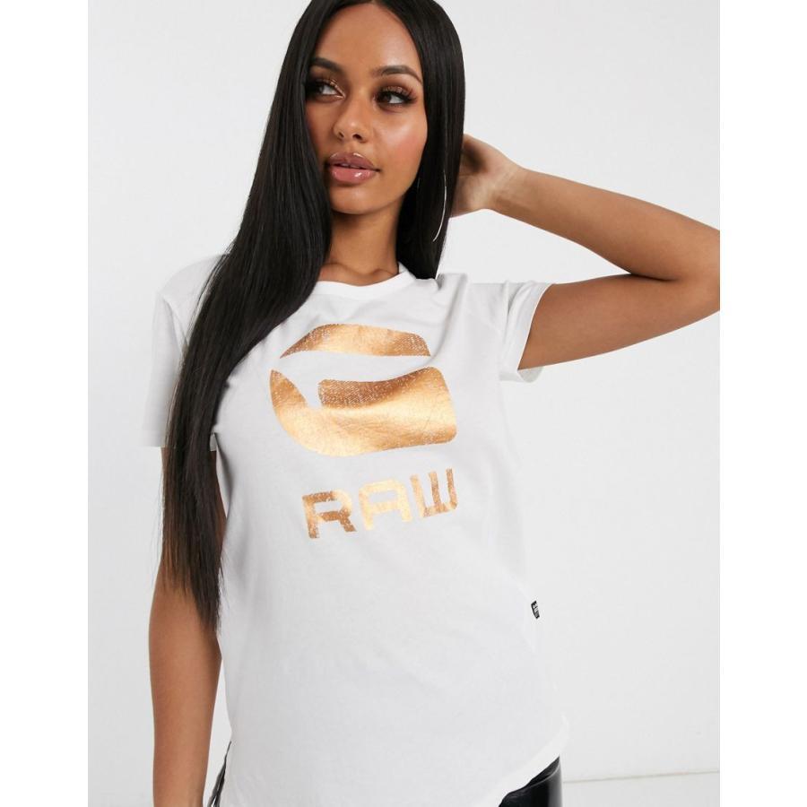 開店祝い ジースター Tシャツ レディース G-Star foil logo t-shirt エイソス ASOS, ウルフムーン cd71303f