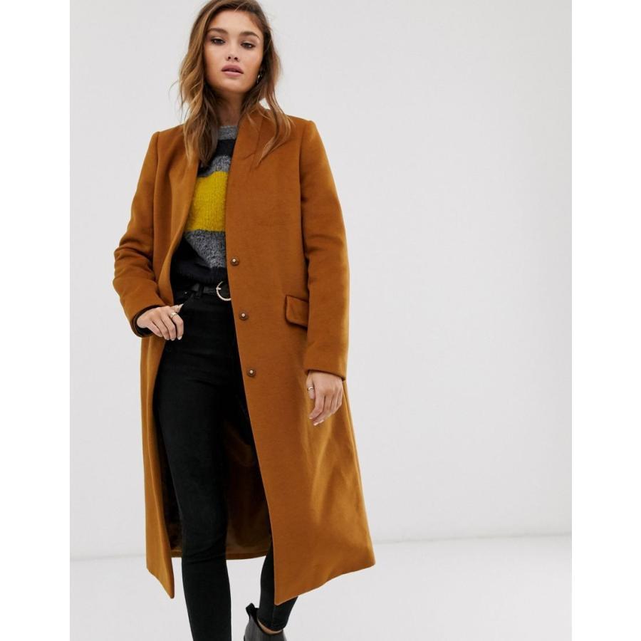 2019激安通販 エイソス コート レディース ASOS DESIGN collarless longline coat エイソス ASOS, トクヂチョウ 7aab15d7