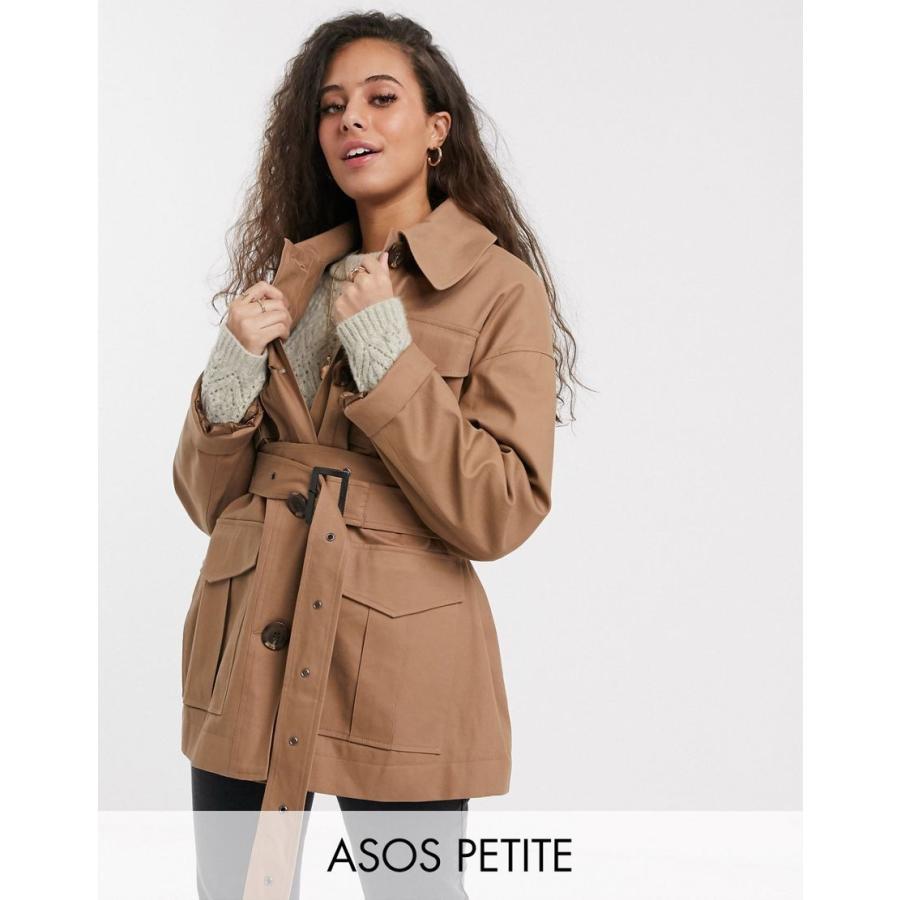 【メール便無料】 エイソス コート レディース ASOS DESIGN Petite utility trench jacket in stone エイソス ASOS ベージュ, 和歌山県 85a07135