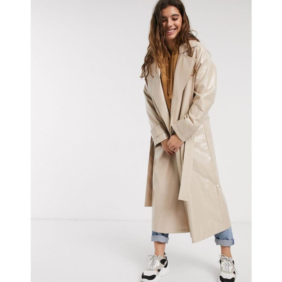 開店記念セール! エイソス コート レディース ASOS DESIGN vinyl trench coat in nude エイソス ASOS, スポーツマート 0f73bdd9