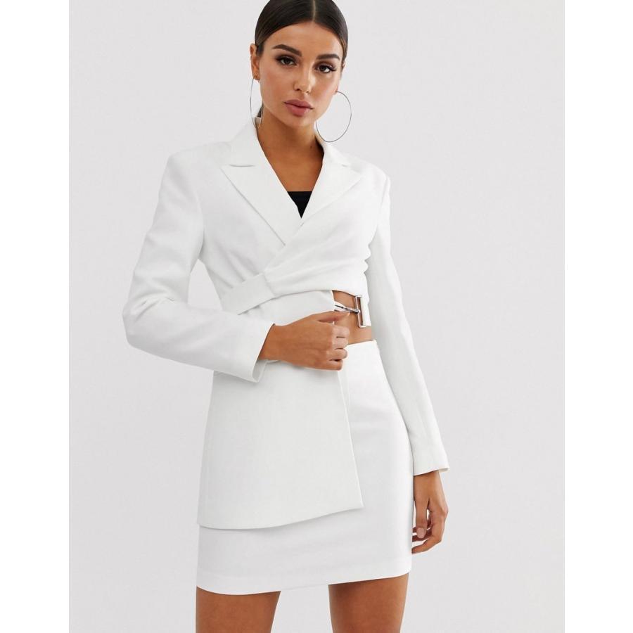 正規激安 エイソス ジャケット レディース ASOS DESIGN asymmetric suit blazer in white エイソス ASOS ホワイト 白, タムラグン f88d5292