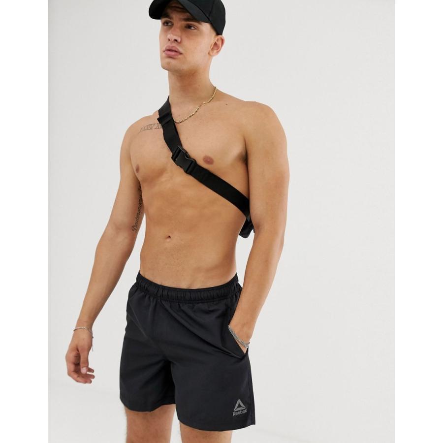 リーボック 水着 メンズ Reebok basic swim short in 黒 エイソス ASOS ブラック 黒