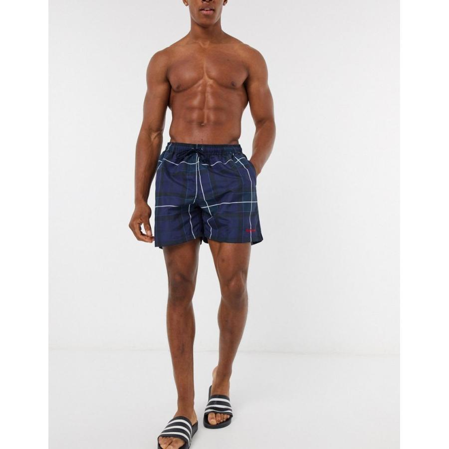 日本限定 バブアー shorts 水着 メンズ Barbour 藍 tartan swim Barbour shorts in navy エイソス ASOS ネイビー 藍, ナオイリマチ:5adf0059 --- airmodconsu.dominiotemporario.com