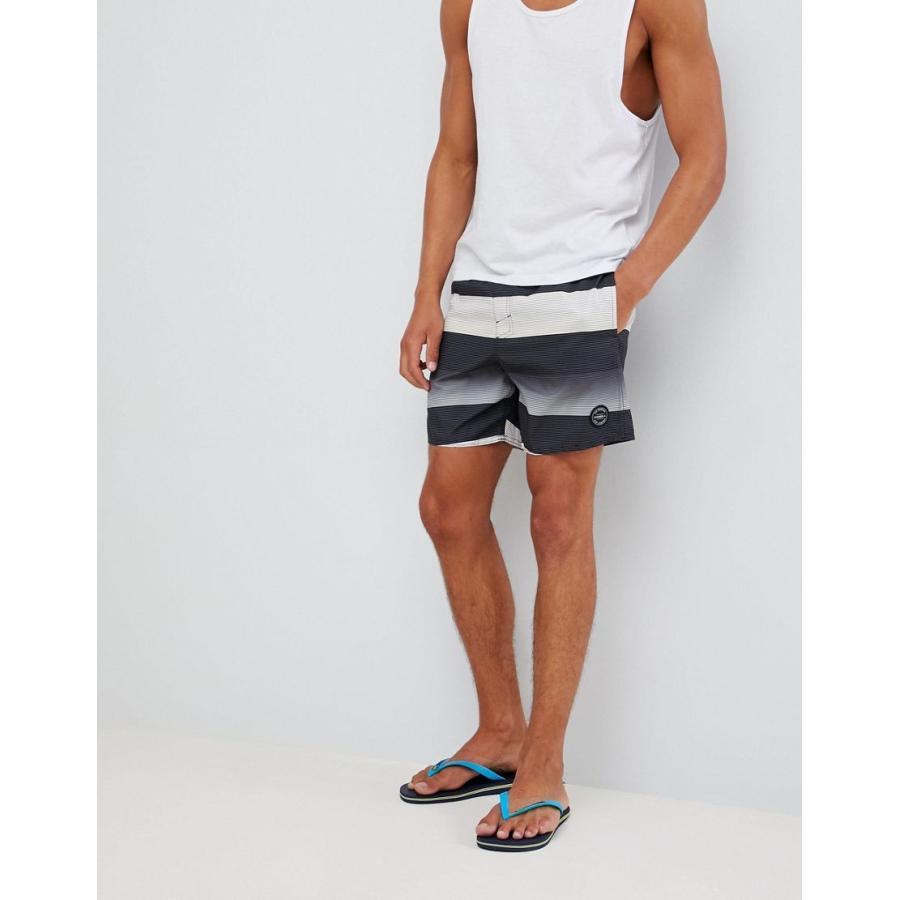 オニール 水着 メンズ O'Neill Santa Cruz Stripe Shorts エイソス ASOS ブラック 黒
