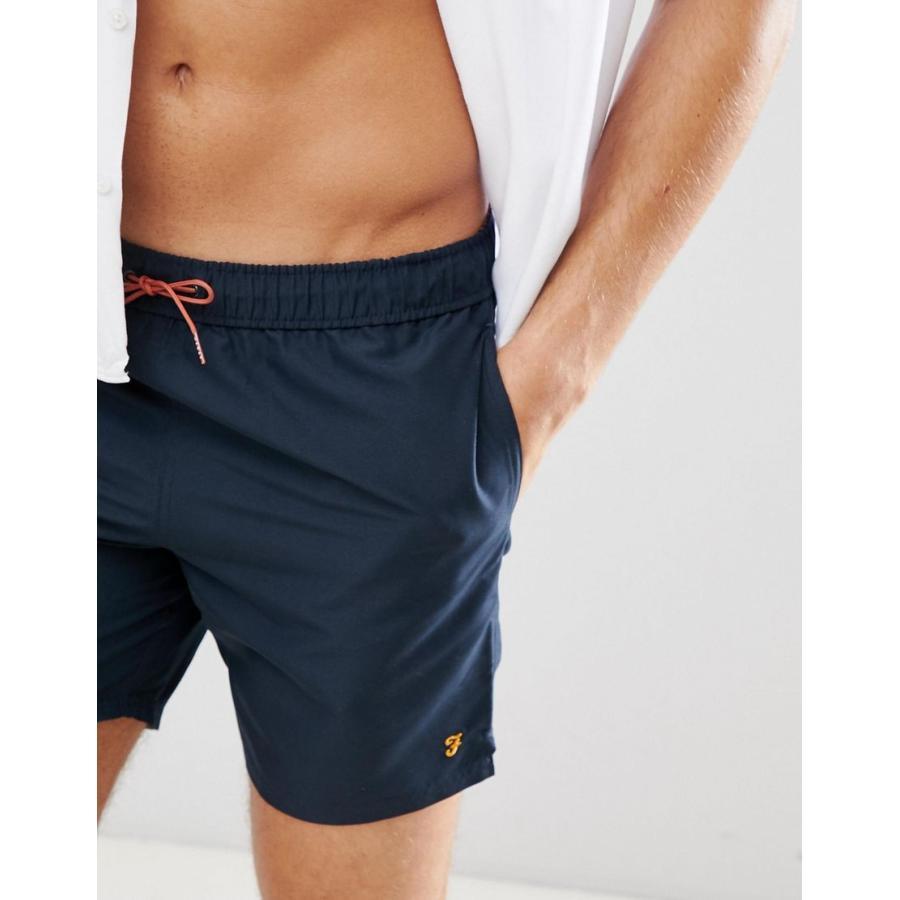 ファラー 水着 メンズ Farah Colbert plain swim shorts in navy エイソス ASOS