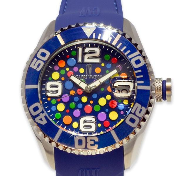 最も  カプリウォッチ Capri watch マキシ 腕時計 ウォッチ ブルー Art. 5306 レディース メンズ ユニセックス 女性 男性 男女兼用, コムエンタープライズ d3b33efc