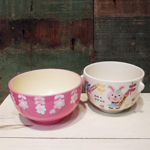 Rub a dub dub 茶碗 汁椀 セット うさぎ ラブアダブダブ ベビー食器 colors-kitchen 02