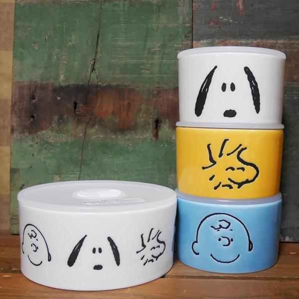 スヌーピー フェイス レンジパック 4点セット SNOOPY 保存容器|colors-kitchen|04