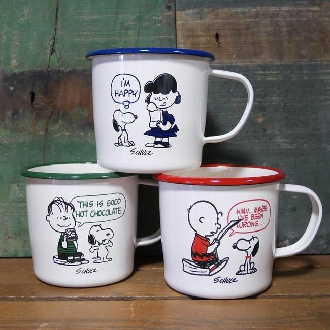 スヌーピー 琺瑯 マグカップ PEANUTS SNOOPY ホーロー コップ colors-kitchen