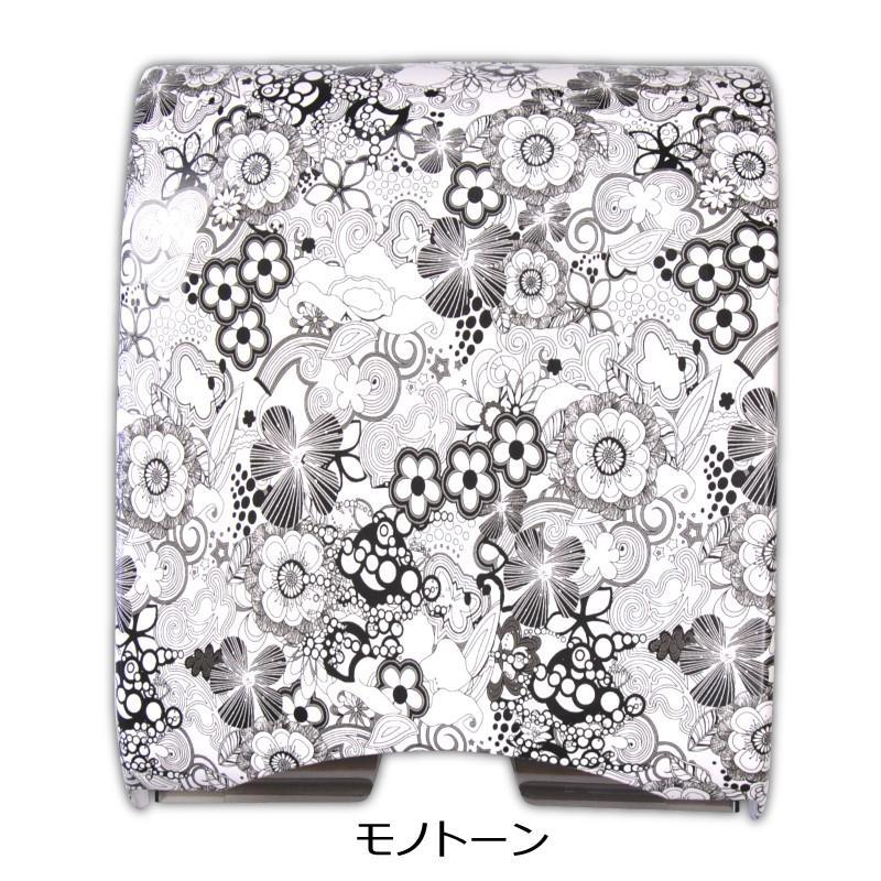 ペーパータオルホルダー ハンドタオルディスペンサー 中判用 花柄デザイン 業務用|colorstage|02