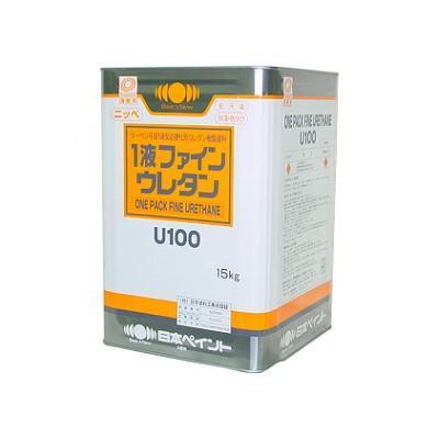 【送料無料】 ニッペ 1液ファインウレタンU100 ND-343 [15kg] 日本ペイント 中彩色 ND色