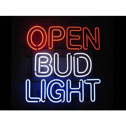 【セール開催中!】50%OFF ネオンサイン / OPEN & BUD LIGHT