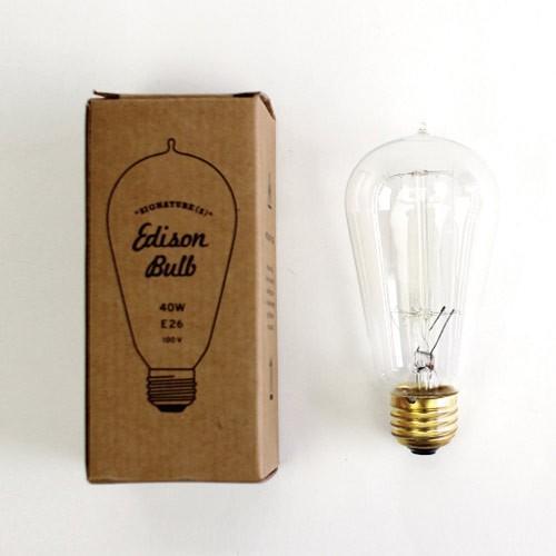 電球 レトロ おしゃれ エジソンバルブ シグネチャー (S)  40W  E26  Edison Bulb  エジソン電球 インテリア 間接照明 アメリカン雑貨|colour|03