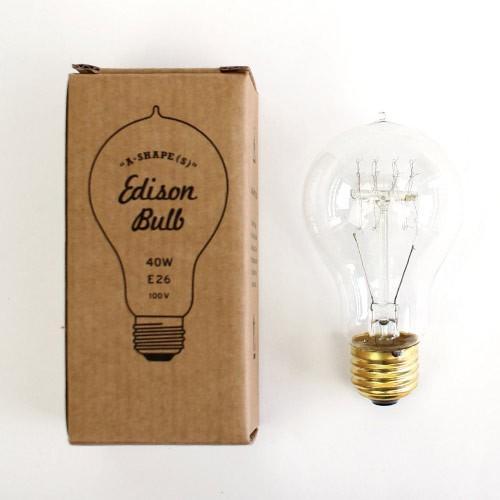 電球 レトロ おしゃれ エジソンバルブ Aシェイプ(S)  40W  E26  Edison Bulb  エジソン電球 インテリア 間接照明 アメリカン雑貨 colour 03