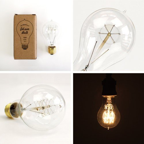 電球 レトロ おしゃれ エジソンバルブ Aシェイプ(S)  40W  E26  Edison Bulb  エジソン電球 インテリア 間接照明 アメリカン雑貨 colour 04