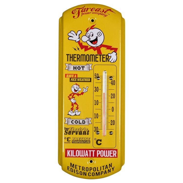 サーモメーター F.E.P.C KILOWATT POWER 温度計 室温計 アメリカ雑貨