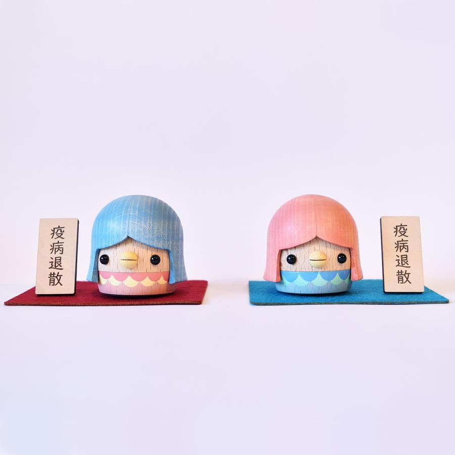 こまむぐ公式・限定商品 アマビエどんぐり 木のおもちゃ 日本製 知育 木育 疫病退散 どんぐりころころ |comomg|03