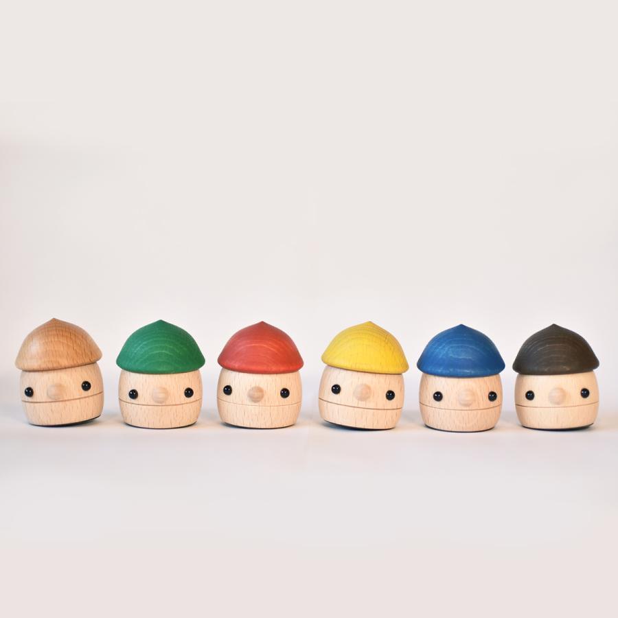 こまむぐ公式 どんぐりころころ 木のおもちゃ 国産 知育 木育 日本製 出産祝い|comomg|07