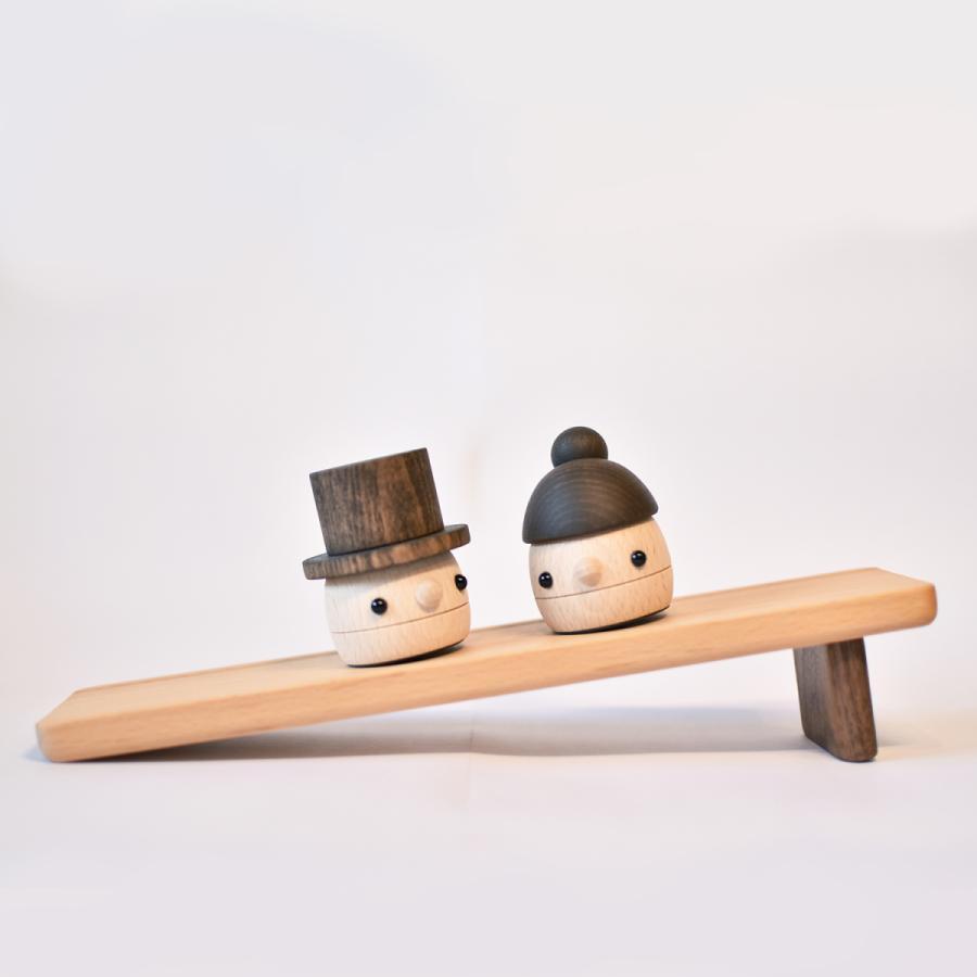 こまむぐ公式 どんぐりぱぱ・ままセット 木のおもちゃ 日本製 知育 木育 どんぐりころころ ギフトセット|comomg|02