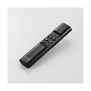 エレコム Bluetoothリモコン 90度補正機能付 ジャイロセンサー ブラック 目安在庫=△|compmoto