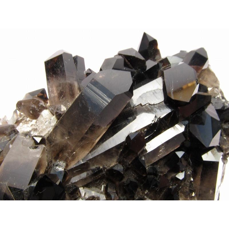 大サイズ アメリカアーカンソー州産 黒水晶(モリオン)クラスター 重さ1187g 高品質 極上モリオン 1点もの アーカンソー州産