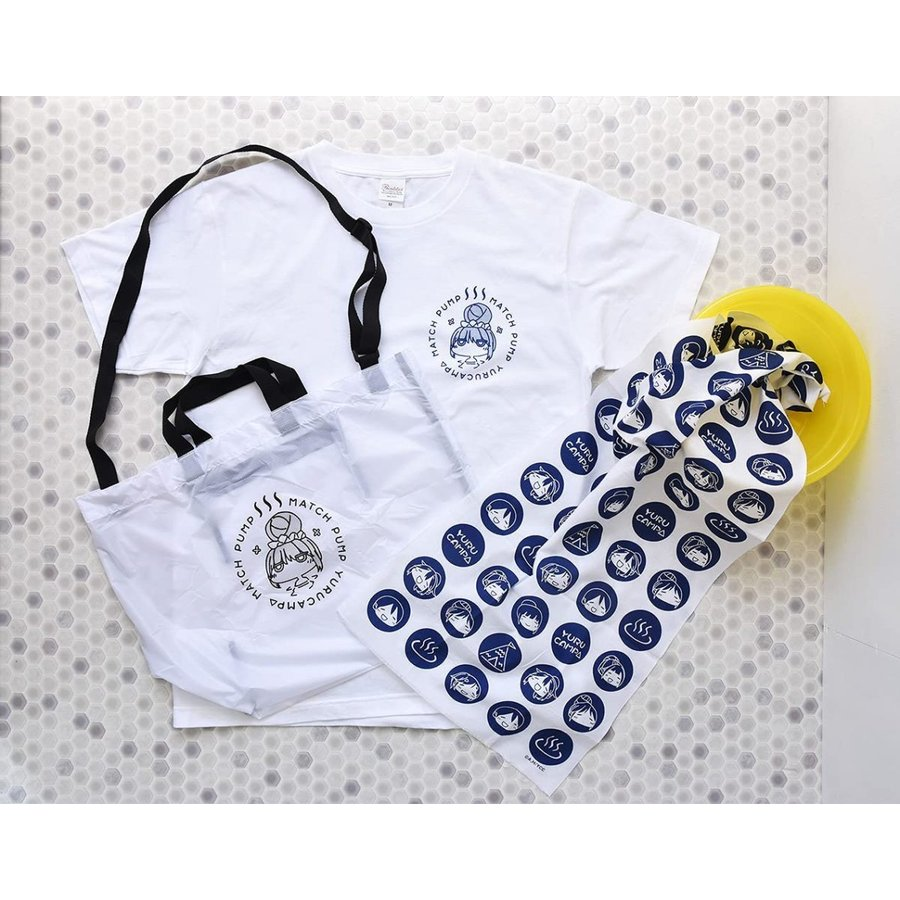 ゆるキャン△【数量限定】MATCH PUMP 2WAYバッグセット(2WAYバッグ+日本製 温泉手ぬぐい+特典ビニールポーチ) 志摩リン・各務原なでしこ グッズ con-para 10