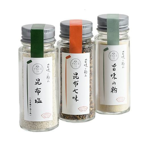 下鴨茶寮 料亭の旨味の極みギフト「昆布塩・昆布七味…