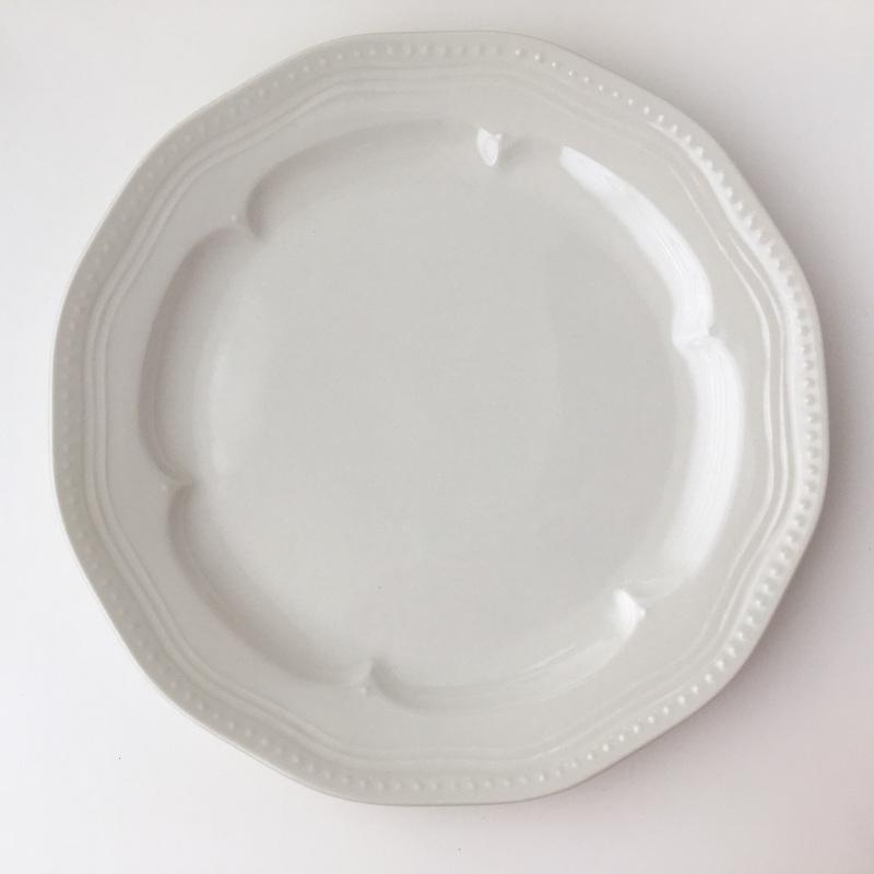 ディナープレート マティネ ラウンド 23.5cm ブラン(白)/グリズ(グレー)/ミント スタジオM' 食器 スタジオエム 大皿 ケーキプレート 日本製 陶器 conceptstore 09