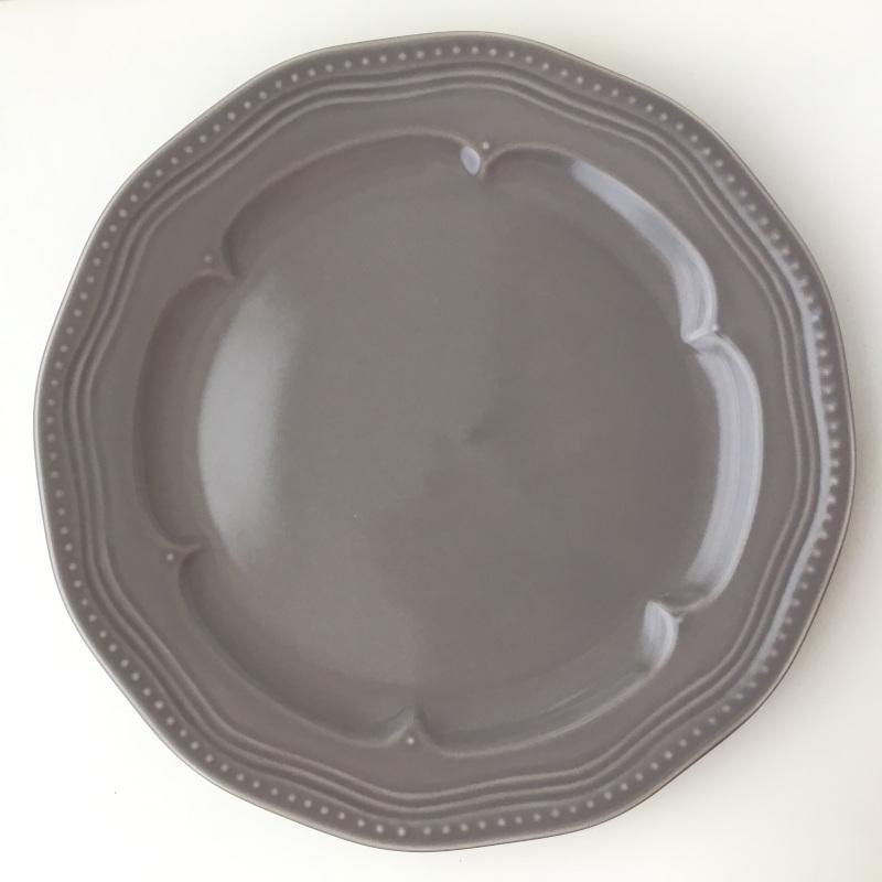 ディナープレート マティネ ラウンド 23.5cm ブラン(白)/グリズ(グレー)/ミント スタジオM' 食器 スタジオエム 大皿 ケーキプレート 日本製 陶器 conceptstore 10