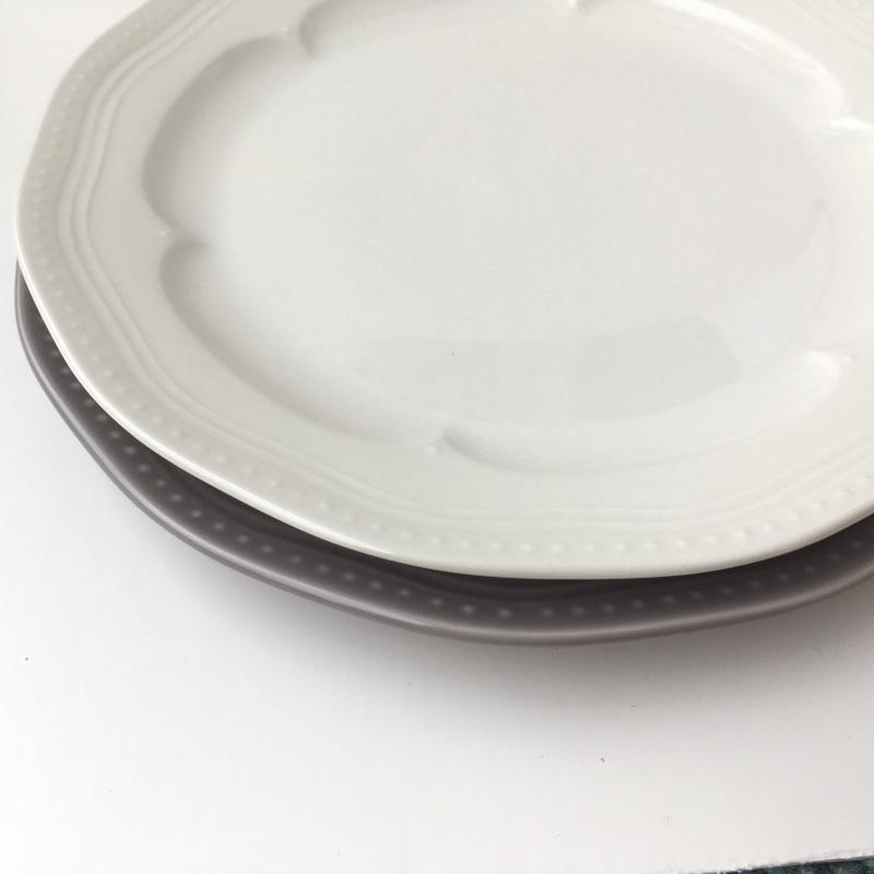 ディナープレート マティネ ラウンド 23.5cm ブラン(白)/グリズ(グレー)/ミント スタジオM' 食器 スタジオエム 大皿 ケーキプレート 日本製 陶器 conceptstore 03
