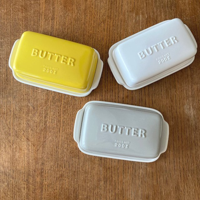 バターケース Arrondi アロンディ ホワイト/グレー/イエロー スタジオM' 食器 皿 スタジオエム 日本製 陶器|conceptstore