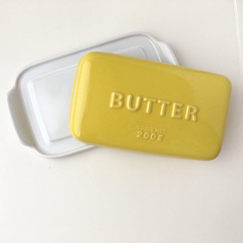 バターケース Arrondi アロンディ ホワイト/グレー/イエロー スタジオM' 食器 皿 スタジオエム 日本製 陶器|conceptstore|06
