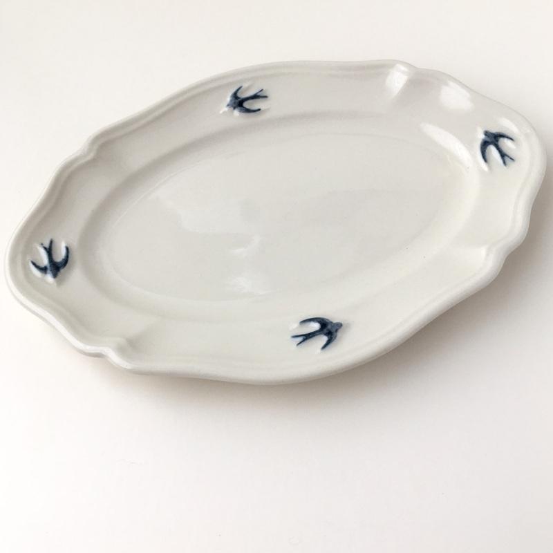 サイドプレート オーバル S ツバメ スタジオM' 食器 皿 スタジオエム アーリーバード 取り皿 ケーキプレート 日本製 陶器 conceptstore 07