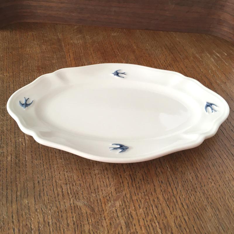 サイドプレート オーバル L ツバメ スタジオM' 食器 皿 スタジオエム アーリーバード 取り皿 ケーキプレート 日本製 陶器|conceptstore|02