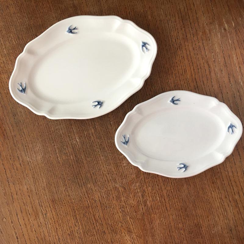 サイドプレート オーバル L ツバメ スタジオM' 食器 皿 スタジオエム アーリーバード 取り皿 ケーキプレート 日本製 陶器|conceptstore|04