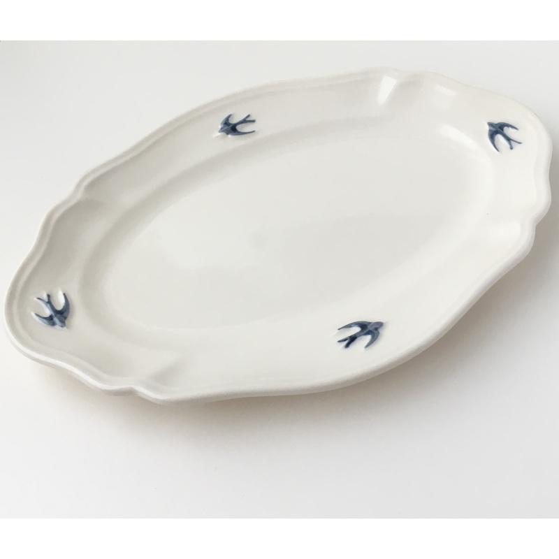 サイドプレート オーバル L ツバメ スタジオM' 食器 皿 スタジオエム アーリーバード 取り皿 ケーキプレート 日本製 陶器|conceptstore|07