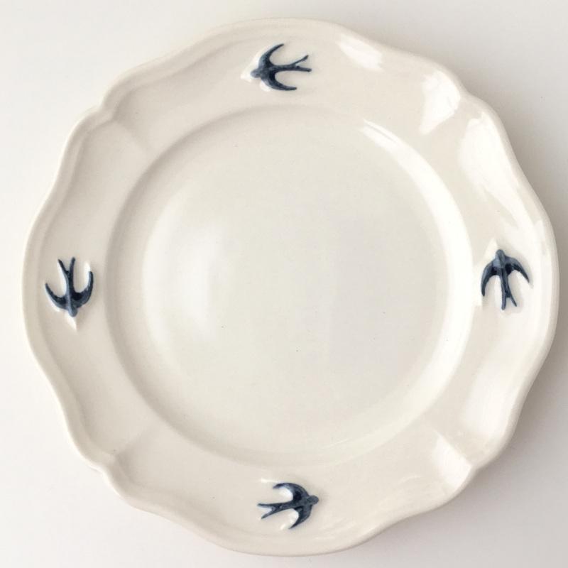 サイドプレート ラウンド S ツバメ スタジオM' 食器 皿 スタジオエム アーリーバード 小鳥 取り皿 ケーキプレート 日本製 陶器|conceptstore|06