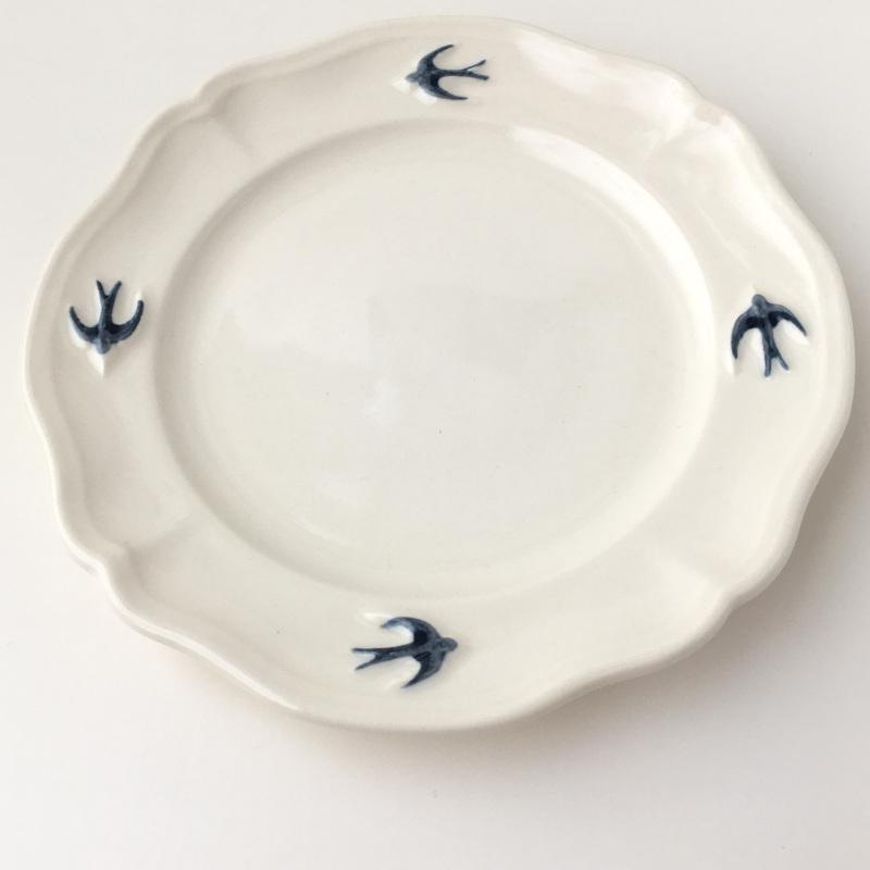 サイドプレート ラウンド S ツバメ スタジオM' 食器 皿 スタジオエム アーリーバード 小鳥 取り皿 ケーキプレート 日本製 陶器|conceptstore|07