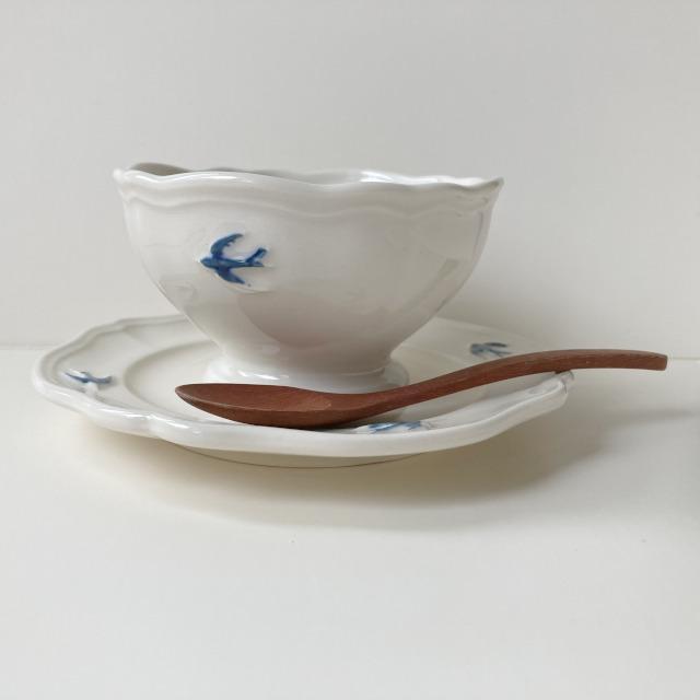 ボウル アーリーバード  ツバメ スタジオM' 食器 皿 スタジオエム フルーツボウル 小鳥 カフェオレボウル サラダボウル 日本製 陶器|conceptstore|03